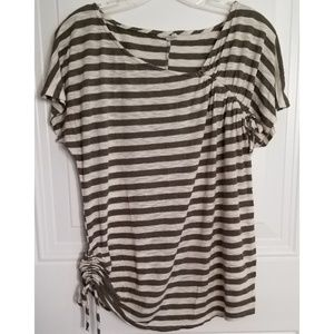 Motherhood maternity knit top stripes rusched
